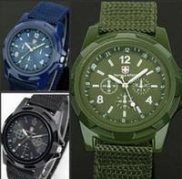 Sport army watch strap - Luxury Analog New Fashion Trendy Sports Military Style Wrist Watch for Men Swiss Gemius Army Watches Quartz Watch color Canvas strap watch