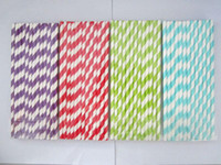 metal   500pcs mixed Striped and Polka Dot Drinking Paper Straws, drinking straw for party favor