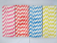 Wholesale 1000pcs color send at randomly amp Packing mixed Chevron patterns Striped amp Polka Dot Drinking Paper Straws for party favor
