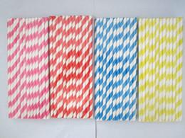 1000pcs color envía al azar & amp ; amp ; 25Packing patrones Chevron mixtos Rayado & amp ; amp ; Lunares de papel de consumición Paja por favor de fiesta del envío libre