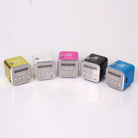 Wholesale TD V26 Mini Portable Speaker with LED Screen support Micro card and U disk with FM Radio