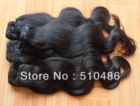 Wholesale Best selling quot kg Remy Virgin Brazilian Human Hair Extensions Hair Weaving Black Body Wave dhl
