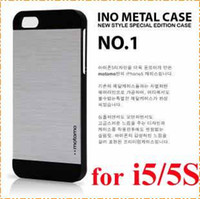 For Apple iPhone alloy box cover - new arrive Luxury Motomo Alloy brushed wiredrawing PC Metal hard back case skin cover for iphone S G ino metal case with retail box