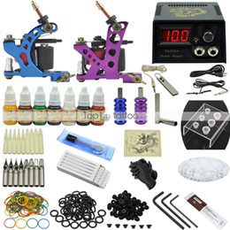 Wholesale Complete Tattoo Kit Machine Guns Set Equipment Power Supply Color Inks