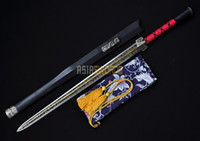 Wholesale ASIASWORDS Handmade Black Blade Chinese Sword Han Jian Black Wooden Scabbard