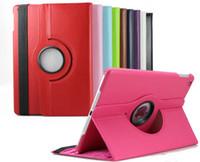 Folding Folio Case 9.7'' For Apple Free Shipping ipad case air 360 degree Rotating PU Leather Cover Case for ipad 2 3 4 ipad 5 ipad air iPad mini Retina smart stand MOQ 50pcs