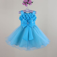 Wholesale baby girls evening dress new fashion gilrs nest party dresses flower child s wedding dress T