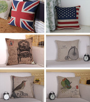 Wholesale New Home Decorations Fashion printed cotton and linen pillow Case cm sofa cushion waist pillow customized designs Best hot