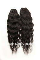 Wholesale 3pcs Water Wave quot quot Virgin Brazilian Human Hair Extensions Curly Virgin Remy Hair Welf