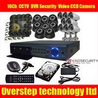 Wholesale 16Ch Channel standalone CCTV HDMI DVR Security Home Video CCD Camera system