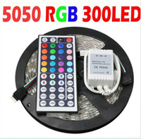 Wholesale RGB SMD Led Strip Waterproof M LED Strip Light key IR Remote Control V A Power Adapter