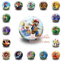 Wholesale cm inch Super Mario Bros fashion button pin badge Kids Party Gifts Best for Collection