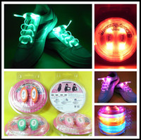 Wholesale 4th Generation x mm LED Flashing Shoelace Optical LED Shoe Lace For Sneaker Ice Skates Party with Blister Packaging