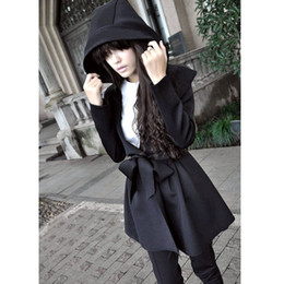 2017 Winter Hooded Coat Fashion Women Hoodies Coats Slim Ladies Outwear Expansion Collar Coat Windbreaker Long Coat Christmas Gift DZ13