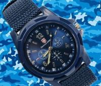 army fabric - Luxury Military Army Fabric Strap Sports Swiss Military Watch Gemius Army Logo Watch for MenN Swiss Army Quartz watch Luminous watches