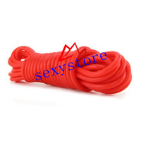 Wholesale 20 Foot Silicone Bondage Rope Silicone Love Rope Fetish rope bondage in RED color SM sex toys factory supplier