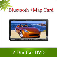 Wholesale 2 din uiniversal car dvd player with GPS touch screen steering wheel control ipod stereo radio usb BT