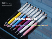 Wholesale Bling Crystal Diamond screen Capacitive Touch Stylus ball Pen for Galaxy S2 S3 S4 iphone GS G S G forIPAD