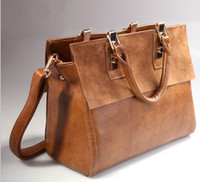 Wholesale Women leather bags Restore leather bag Leather Briefcase Handbags strap Totes