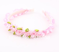 Headbands alice wedding - Wedding Festival Baby Children Flower Headband Alice Band Lovely Floral Garland Girl Kids Hair Band Headwear Hair Jewelry ZH17