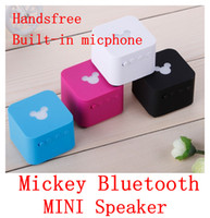 2 Universal HiFi Free Shipping Best Quality Portable Mini Mickey Wireless Bluetooth Speaker Built-in Microphone Handsfree Long standby Mini Speaker
