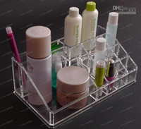 Wholesale LLFA3531 Clear Acrylic Crystal Cases Cosmetic Organizer Makeup Case Holder Storage Case Jewelry Box Gift