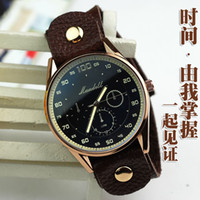 Round Not 63139 Japan-US absolute minimalist style leather casual market neutral rivet quartz movement watch watch factory wholesale Dandanfree shipping