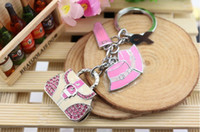 Wholesale Full capacity GB GUSB2 Memory Stick Flash Drive personality design handbag shape Metal Crystal USB a beautiful Gift