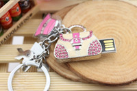 Wholesale Full capacity GB G USB2 Memory Stick Flash Drive personality design handbag shape Metal Crystal USB beautiful Gift