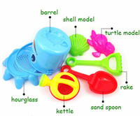 Wholesale Lovely Cute Child Beach Toy Large Hourglass Sand Tools Baby Bath Toys Set Hot Sale