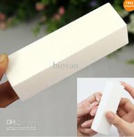 Nail Buffer acrylic blocks - Fashion White Buffer Block Buffing Sanding Filing Acrylic Natural Nail Art