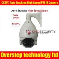 Wholesale CCTV quot TVL X Zoom mm Auto Tracking High Speed Dome PTZ IR Camera