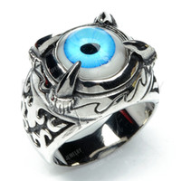 Wholesale Teboer Jewerly Dragon Claw Evil Eye Ring Stainless Steel MER144