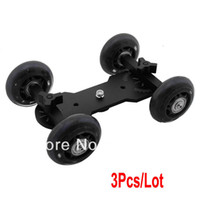 Wholesale 3pcs New Mini Black Desktop DSLR Camera Rail Track Video Slider Table Dolly Car TK0923