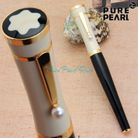 Wholesale PURE PEARL MB SPECIAL High Quality Best Design Pearl Golden Clip Black and White Cap Fountain Pen