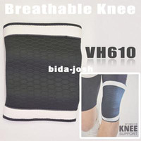 Wholesale Sport Band Elastic Ventilated Knee Protector Brace Support Wrap Pad Black