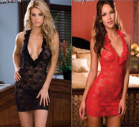 Cut Out big hip wear - Sexy Deep V Big Collar Full Lace Elastic Hollow Perspective Skirts Women Party Dancer Costumes Hip Hop Jazz Nightclubs Stage Wear