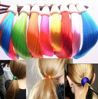 Wholesale 50 New Colorful Women Lady Synthetic Hair Band Plaited Plait Elastic Bohemia Braids Headband Hairband