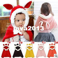 Summer best crochet patterns - Best Selling Lovely Rabbit Pattern Baby Girls Hats Cloak Color Cute Kids Clothes Accessories Fashionable Twin Cap for Child