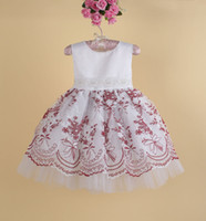 New 2014 Wedding Party baby girl evening Dresses Girl's Prin...