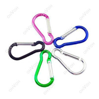 Wholesale S5Q x Metal Carabiner Snap Clip Lock Keychain Key Chain Camping Hiking Hook New AAAAQL