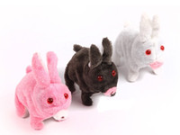 Unisex 5-7 Years pink, white, gray 5pcs Electronic Pet Running Rabbits With Sound & Flash Eyes,Best Christmas Gifts For Children,Simulation Animals