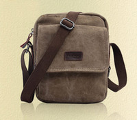 Wholesale Wonderful Men s Brown Vintage Canvas Bag Shoulder Bag Messenger Small Fanny Pack