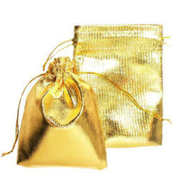 Wholesale S5Q Gold Stain Drawstring Engaged Wedding Jewelry Package Favor Gift Bag Pouches AAAAUA