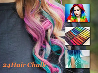 Wholesale 24 Colors set Chalk Hair Temporary Chalk Hair Color Dye Pastel Chalk Bug Rub