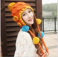 Wholesale Hot new winterColor tab Mao Xianmao lovely flowers knitted braids BAF020