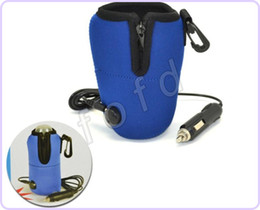 Universal Portable Travel Food Milk Bottle Warmer Heater Cup in Car For Baby Kids 12V 10pcs lot