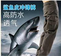 tactical pants - High quality Men s Lurker Shark skin Soft Shell Outdoor Military Tactical Hiking Pants Waterproof Windproof Sports Army camouflage Pants