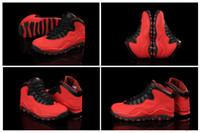 Wholesale 1 Colours Hot Sale Air Retro X GS Fusion Red Men s Basketball Sport Footwear Sneaker Shoes Colours