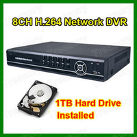 Wholesale DHL CH Channel H Network CCTV DVR Recorder D1 CIF Realtime Recording TB GB HDD Installed With Retail Box